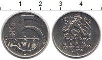 Изображение Дешевые монеты Чехия 5 крон 2006 Сталь покрытая никелем XF