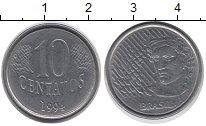 Изображение Дешевые монеты Бразилия 10 сентаво 1994 Латунь-сталь VF+