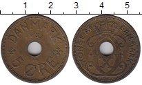 Изображение Монеты Дания 5 эре 1937 Бронза XF