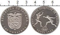 Изображение Монеты Панама 1 бальбоа 1988 Серебро Proof- Олимпиада 88. Сеул.Ф