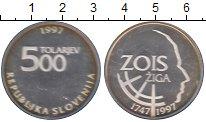 Изображение Монеты Словения 500 толаров 1997 Серебро Proof-