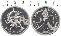 Изображение Монеты ЮАР 2 ранда 1992 Серебро Proof