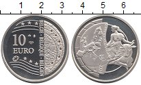 Изображение Монеты Бельгия 10 евро 2004 Серебро Proof Похищение  Европы