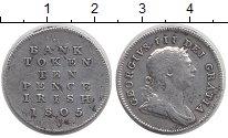 Изображение Монеты Ирландия 10 пенсов 1805 Серебро XF-