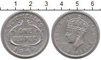 Изображение Монеты Сейшелы 1 рупия 1939 Серебро XF+ Георг VI