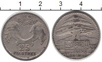 Изображение Монеты Ливан 25 пиастров 1929 Серебро VF Кедр