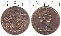 Изображение Монеты Новая Зеландия 1 доллар 1970 Медно-никель XF+