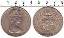 Изображение Монеты Новая Зеландия 1 доллар 1967 Медно-никель XF+ Елизавета II