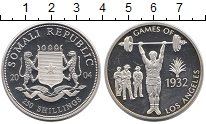 Изображение Монеты Сомали 250 шиллингов 2004 Серебро Proof- Олимпиада 1932.  Лос