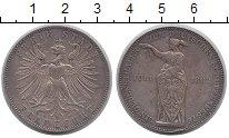Изображение Монеты Франкфурт 1 талер 1862 Серебро XF Немецкий стрелковый