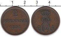Изображение Монеты Ганновер 2 пфеннига 1851 Медь XF