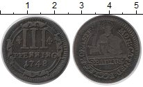 Изображение Монеты Мюнстер 3 пфеннига 1748 Медь XF-