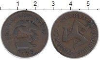 Изображение Монеты Остров Мэн 1/2 пенни 1733 Медь VF Трискелион