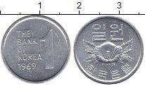 Изображение Монеты Южная Корея 1 вон 1969 Алюминий XF