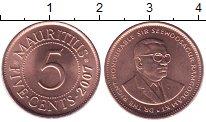 Изображение Монеты Маврикий 5 центов 2007 Бронза UNC