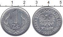Изображение Монеты Польша 1 злотый 1985 Алюминий XF