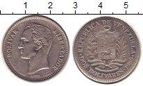 Изображение Монеты Венесуэла 2 боливара 1989 Медно-никель XF Симон Боливар.
