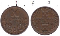 Изображение Монеты Португалия 10 сентаво 1964 Бронза XF