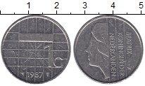 Изображение Монеты Нидерланды 1 гульден 1987 Медно-никель XF