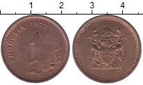 Изображение Монеты Родезия 1 цент 1977 Бронза XF