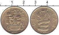 Изображение Монеты Сан-Марино 200 лир 1995 Латунь XF