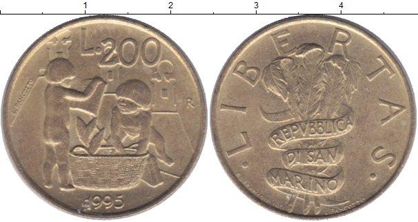 Картинка Монеты Сан-Марино 200 лир Латунь 1995