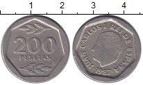 Изображение Монеты Испания 200 песет 1987 Медно-никель XF