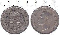Изображение Монеты Новая Зеландия 1/2 кроны 1948 Медно-никель XF