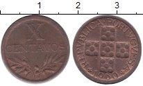 Изображение Монеты Португалия 10 сентаво 1960 Бронза XF