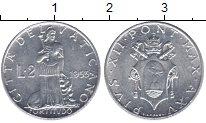 Изображение Монеты Ватикан 2 лиры 1953 Алюминий UNC-