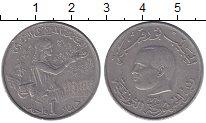 Изображение Монеты Тунис 1 динар 1976 Медно-никель XF