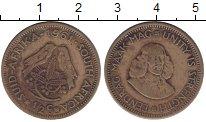 Изображение Монеты ЮАР 1/2 цента 1961 Латунь VF