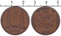 Изображение Монеты Нигерия 1 кобо 1973 Бронза XF герб