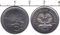Изображение Монеты Папуа-Новая Гвинея 5 тоа 2005 Медно-никель XF