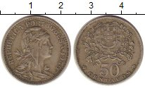 Изображение Монеты Португалия 50 сентаво 1959 Медно-никель XF