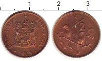 Изображение Монеты ЮАР 1/2 цента 1975 Бронза XF