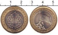Изображение Монеты Турция 1 лира 2016 Биметалл XF