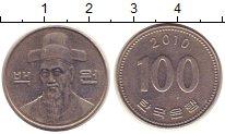 Изображение Монеты Южная Корея 100 вон 2010 Медно-никель XF
