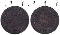Изображение Монеты Испания 5 сентим 1870 Бронза XF