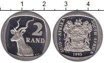 Изображение Монеты ЮАР 2 ранда 1993 Медно-никель UNC