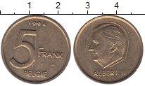Изображение Монеты Бельгия 5 франков 1994 Латунь XF