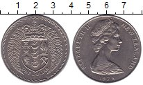 Монета Новая Зеландия 1 доллар Медно-никель 1975 UNC- фото