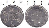 Изображение Монеты Испания 100 песет 1980 Медно-никель UNC-