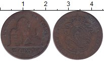 Изображение Монеты Бельгия 2 сантима 1856 Медь VF Леопольд I