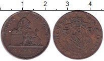 Изображение Монеты Бельгия 2 сантима 1875 Бронза XF