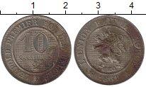 Изображение Монеты Бельгия 10 сантим 1861 Медно-никель VF