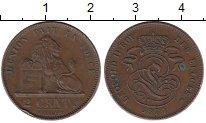Изображение Монеты Бельгия 2 сантима 1870 Бронза XF