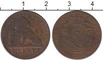 Изображение Монеты Бельгия 2 сантима 1862 Медь VF Леопольд I