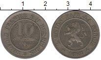 Изображение Монеты Бельгия 10 сантимов 1862 Медно-никель XF