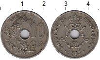 Изображение Монеты Бельгия 10 сантимов 1905 Медно-никель VF